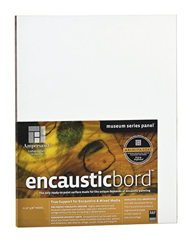 Encausticbord 1/8 Inch - 6x6 Inch Pack of Four by Ampersand (Encaustic Supplies compare prices)