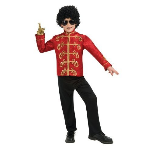 Michael Jackson Military Jacket Child Costume Accessory Size 4-6 Small