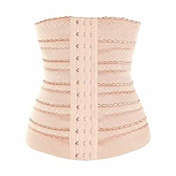 Imported Women Body Shaper Waist Trainer Cincher Underbust Corset Shapewear Beige 3XL
