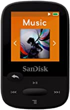 SanDisk Clip Sport 4GB MP3 Player, Black With LCD Screen and MicroSDHC Card Slot- SDMX24-004G-G46K