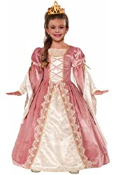 Forum Novelties Designer Collection Deluxe Victorian Rose Costume Dress, Child Small