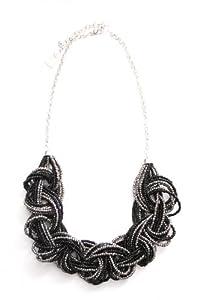 Marc Labat - 13H46 - Gypsy - Collier Femme - Métal - Perle - Noir - 26 cm