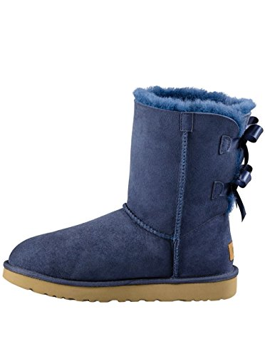 UGG Women's Bailey Bow II Boot Navy Size 12 B(M) US (Blue Bow Uggs compare prices)