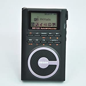 2nd generation Degen DE1125 Ultra-Thin AM/FM/SW Radio with 4GB MP3 Player/Digital Recorder