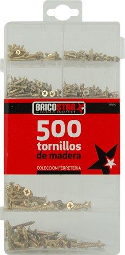 Bricostar - Caja con 500 tornillos de madera #1180
