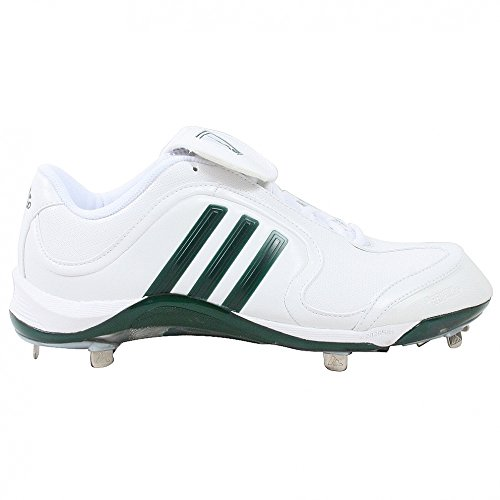 adidas Men's Excelsior 6 Low Baseball Cleat,White/Forest/Silver,7 M US