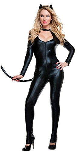 NonEcho Catwoman Costume for Women Sexy with Catwoman Ears (Cat Woman Costume Ideas)
