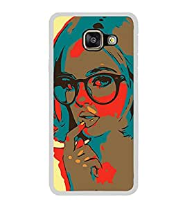 Thinking Girl 2D Hard Polycarbonate Designer Back Case Cover for Samsung Galaxy A7 (2016) :: Samsung Galaxy A7 2016 Duos :: Samsung Galaxy A7 2016 A710F A710M A710FD A7100 A710Y :: Samsung Galaxy A7 A710 2016 Edition