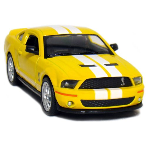 "5"" 2007 Ford Shelby GT500 with Stripes 1:38 Scale (Yellow)"