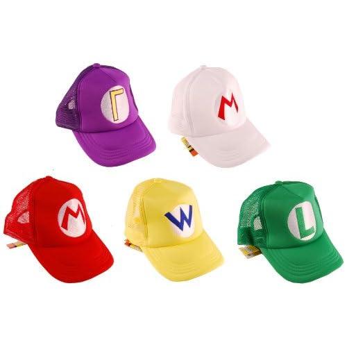 Super Mario Bros Trucker Hat Set Of 5