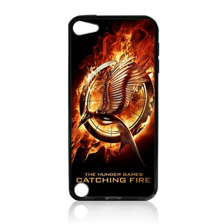 Hunger Games Catching Fire Movie Tpu Rubber Plus Hard Case Cover Skin for Ipod Touch 5g 5 5th Generation - Free Plastic Retail Packaging Box