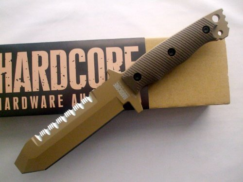 Hardcore Hardware Australia Muk01-Gt Tan Teflon Tactical Eod & Dive Knife Desert Brown G-10