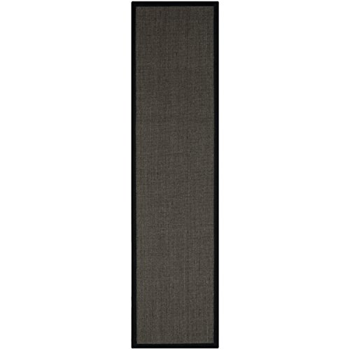 Safavieh Natural Fiber Collection NF441D Hand Woven Charcoal Jute Runner, 2 feet 6 inches by 18 feet (2'6