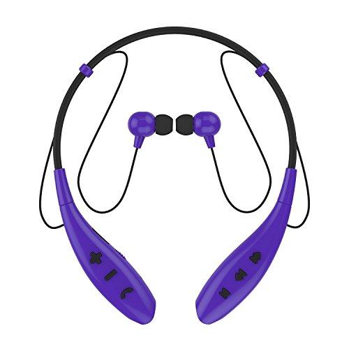 SoundPEATS(サウンドピーツ) bluetooth イヤホン 高音質 ハンズフリー スポーツ仕様 生活防水 イヤホン bluetooth ワイヤレス イヤホン ワイヤレスヘッドホン bluetooth ヘッドホン ヘッドセット イヤフォン ヘッドフォン Q800 (パープル)