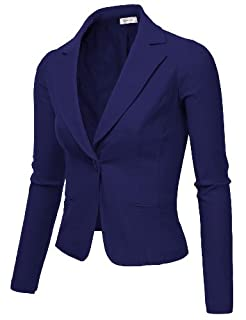 9XIS Womens Boyfriend Blazer,Cobalt,Medium