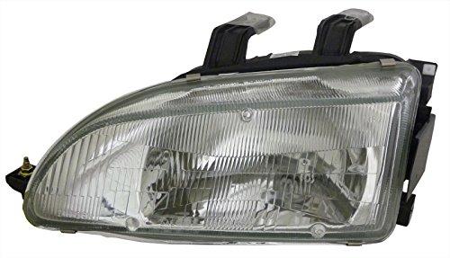 For Honda Civic 92-95 Left Driver Side Lh Headlight Headlamp New Lens & Housing (Honda Civic 92 95 Headlights compare prices)