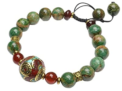 Elegant Tibetan Style Good Luck Bead with African Turquoise Bracelet-Fortune Good Luck Fashion Jewelry