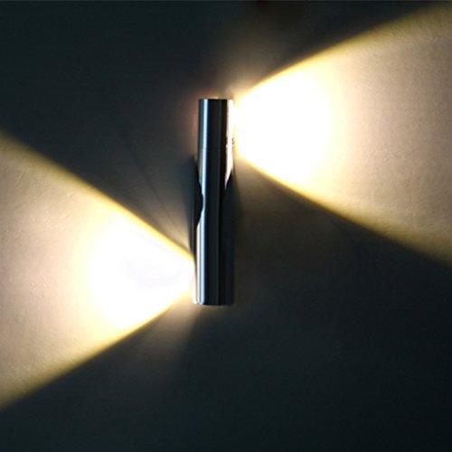 Intérieur LED Lampe Applique murale puissance 2W éclairage luminosité 6000-6500K couleur blanche doux pour salle à manger salle de bain chambre pièce Salon etc