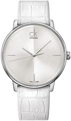 Calvin Klein K2Y2X1K6 40mm Stainless Steel Case Crocodile Mineral Women's Watch