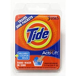 Tide Travel Sink Packets 0.51 FL OZ (3 Pack)
