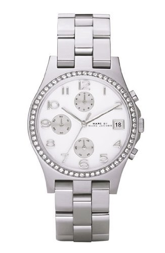 marc jacobs henry glitz silver dial womens watch � mbm3072
