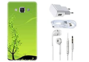 Spygen SAMSUNG GALAXY A5 (2015) Case Combo of Premium Quality Designer Printed 3D Lightweight Slim Matte Finish Hard Case Back Cover + Charger Adapter + High Speed Data Cable + Premium Quality Handfree