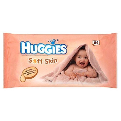Huggies Lingettes Soft Skin 64 par paquet