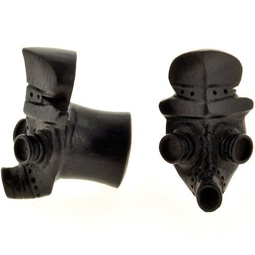 Pair of Arang Wood Gas Mask Plugs: 7/16