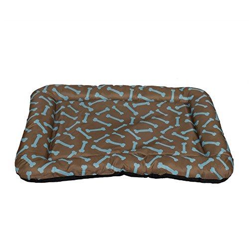 Dog Crate Pad Bolster Bed Pet Mat Waterproof Bone