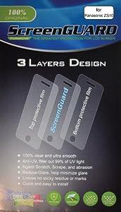 3x Panasonic Lumix DMC-ZS10 DMC-TZ20 DMC-TZ22 Digital Camera Premium Clear LCD Screen Protector Cover Guard Shield Flim Kit, No cutting, Perfect fit with Full Protection!