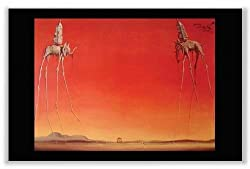 "Les Elephants by Salvador Dali 36""x24"" Art Print Poster"