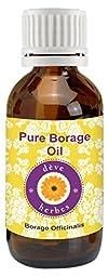 dève herbes Pure Borage Oil (Borago officinalis) 100% Natural Cold Pressed Therapeutic Grade (5-1250ml)