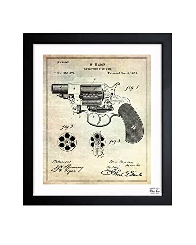 Oliver Gal Revolving Fire Arm 1881 Framed Art