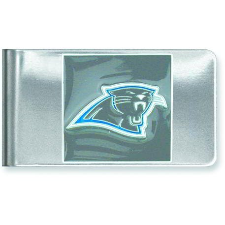 Stainless Steel NFL Carolina Panthers Money Clip