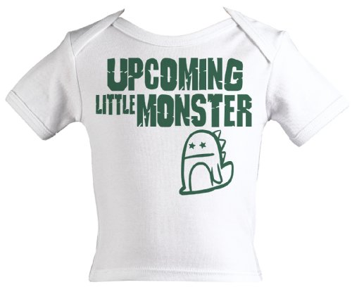 Spoilt Rotten - Upcoming Little Monster Funny Baby Tee Shirt 100% Organic Sizes 6-12 months WHITE + in funky Milk Carton
