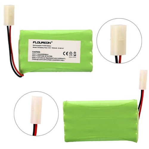 Floureon® 9.6V 1800Mah Flat 8 Cell Ni-Mh Aa(4*2) Battery Pack Rc Battery With Tamiya Connector Compatible With Rc Cars, Boats Rc Gadgets And Other Rc Units