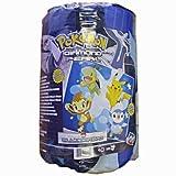 Image of Pokemon Diamond & Pearl Slumber / Sleeping Bag - Turtwig, Chimchar, Piplup and Pikachu