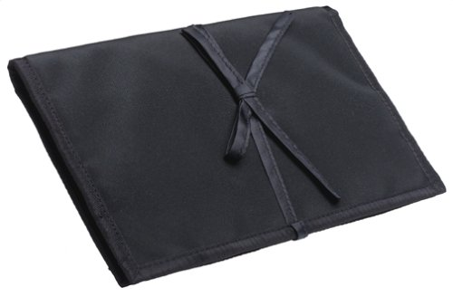 Household Essentials 06904 Travel Jewelry Roll, Black