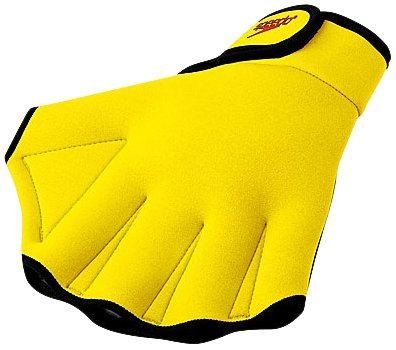 Speedo Swimming Aqua Fit Training-Exercise Swim Gloves Large UV Yellow