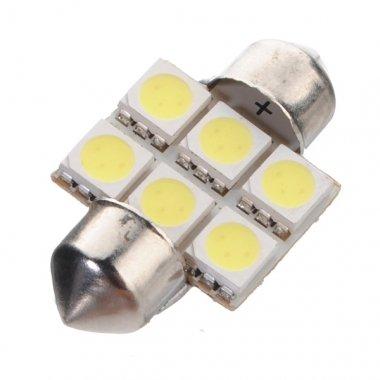 Auto-Innenhaube 6 SMD LED Lampe Licht Weiß Lampe 31 mm