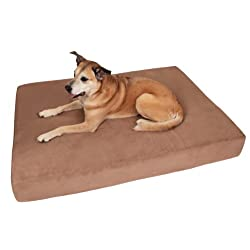 Big Barker 7 Pillow Top Orthopedic Dog Bed - Large Size - 48 X 30 X 7 - Khaki - For Large and Extra Large Breed Dogs (Sleek Edition)