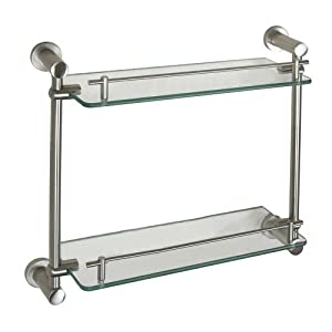 Model  Allen  Roth 1Tier Brushed Nickel Zinc Bathroom Shelf At Lowescom