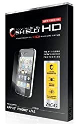 ZAGG invisibleSHIELD HD for Apple iPhone 4 4S Case Friendly Screen (new version)