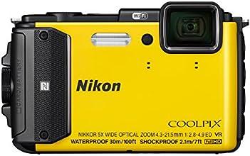 """Nikon Coolpix AW130 Appareil photo numérique compact 16 Mpix Écran LCD 3"""" Zoom optique 5X Jaune"""
