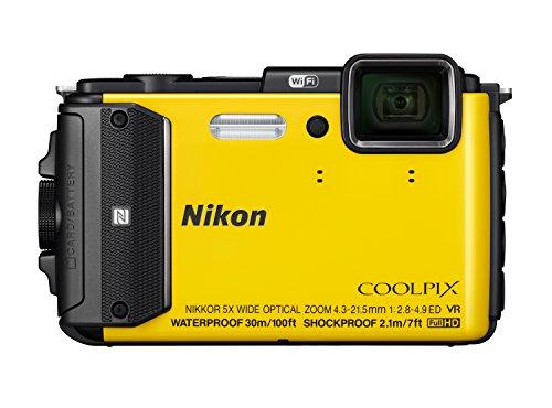 Coolpix AW130 Digitalkamera (16 Megapixel, 5-fach opt. Zoom, 7,6 cm (3 Zoll) OLED-Display, USB 2.0, bildstabilisiert) gelb