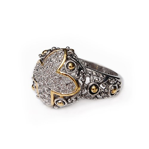 Fashion Trendy Design Textured Ring Size:7 #021568