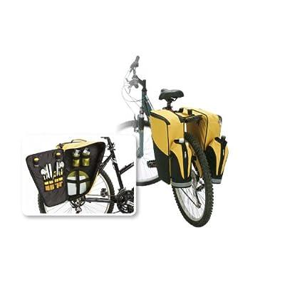 Amazon.com : Portable 2 Person Bicycle Saddle Bag Picnic Set With