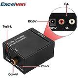 Convertisseur QT0008701  Audio Numérique SPDIF Optique/Coaxial vers RCA Noir