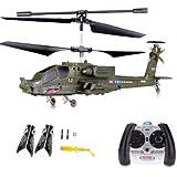 3.5 Kanal RC ferngesteuerter mini Blackhawk UH-60 Apache Militär Army Hubschrauber mit der neuesten Gyro-Technik, RTF Komplett-Set