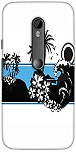 Snoogg Abstract Tropical Background Designer Protective Back Case Cover For M...
